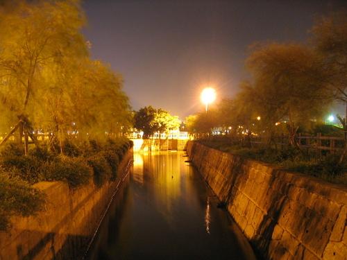 Night time park