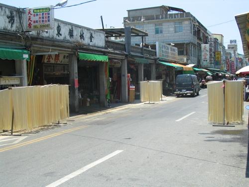 Mian xian 麵線 drying in the sun