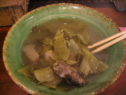 Hakka Pickled Mustard and Bamboo with Duck 酸菜筍片鴨肉湯